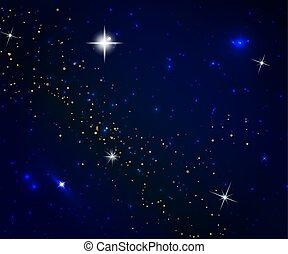 résumé, fond, cosmos, étoiles