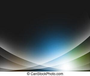 résumé, fond, de, clair, coloré, incandescent, lumières