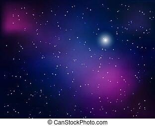 résumé, fond, espace, étoiles