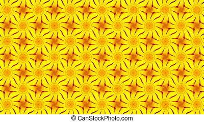 résumé, fond, fleurs, jaune