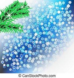 résumé, fond, hiver, noël, theme., flocons neige