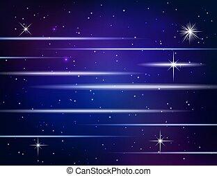 résumé, fond, incandescent, étoiles