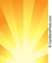 résumé, -, fond, levers de soleil