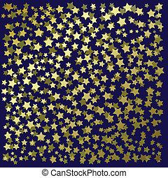 résumé, fond, or, étoiles