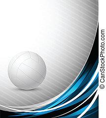 résumé, fond, volley-ball
