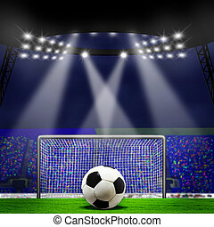 résumé, football, arrière-plans, stadium., football, ou