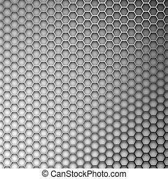 résumé, formulaire, hexagones, arrière-plan., lattice., métal