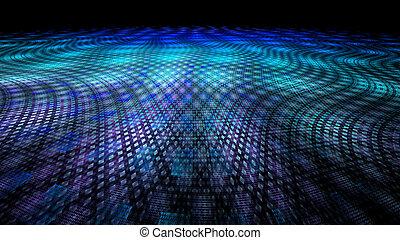 résumé, fractal, coloré, illustration