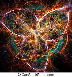 résumé, fractal, fond