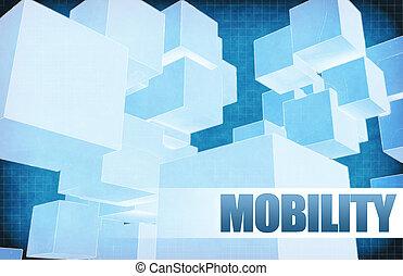 résumé, futuriste, mobilité