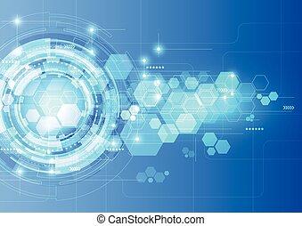résumé, futuriste, technologie numérique, arrière-plan., illustration, vecteur