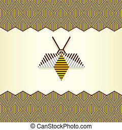 résumé, géométrique, abeille