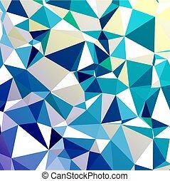 résumé, géométrique, mosaïque, froid, fond