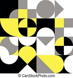 résumé, géométrique, vecteur, modèle, retro, seamless, design.
