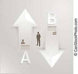 résumé, gabarit, numéroté, utilisé, lignes, infographics, conception, /, vecteur, site web, coupure, bannières, infographic, horizontal, graphique, minimal, style, être, disposition, ou, boîte