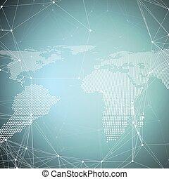 résumé, global, élevé, texture., réseau, concept., ...