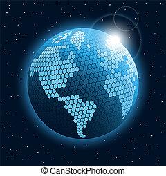 résumé, global, icon., cellulaire