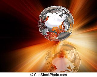 résumé, globe