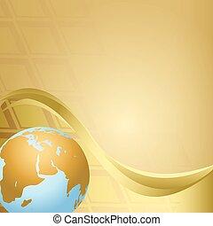 résumé, globe, vecteur, arrière-plan beige