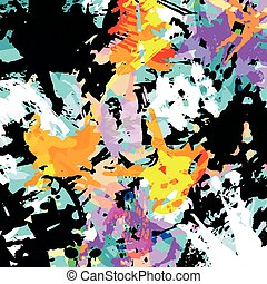 résumé, graffiti, fond, coloré
