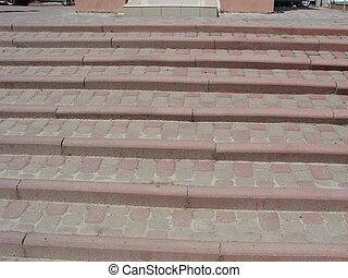 résumé, granit, ville, étapes, escalier