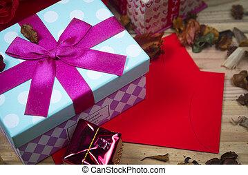résumé, graphique, fond, giftbox