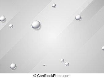 résumé, gris, argent, minimal, perle, fond, perles, illustration