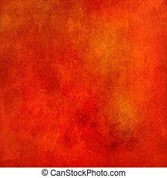 résumé, grunge, fond, texture, rouges