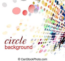 résumé, halftone, fond, cercle