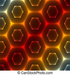 résumé, hexagonal, fond
