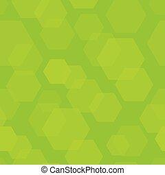 résumé, hexagone, arrière-plan vert