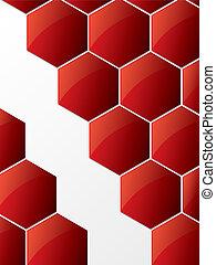 résumé, hexagone, fond