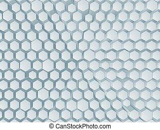 résumé, hexagone, fond, rayon miel, géométrique