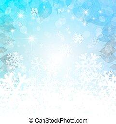 résumé, hiver, arrière-plan., vecteur, noël, vide, toile de fond, pour, designs., blanc bleu, wallpaper.