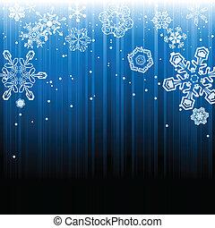 résumé, hiver, chute neige, fond