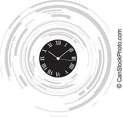 résumé, horloge