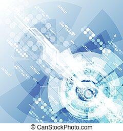 résumé, illustration, arrière-plan., vecteur, technologie numérique, futuriste