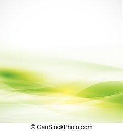 résumé, illustration, lisser, vecteur, couler, arrière-plan vert