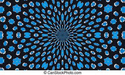 résumé, illustration, rendre, fond, numérique, kaleidoscope., 3d