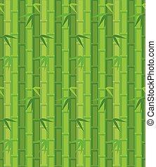 résumé, illustration, vecteur, arrière-plan vert, bambou