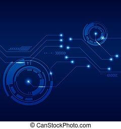 résumé, illustration, vecteur, fond, technologie numérique, futuriste