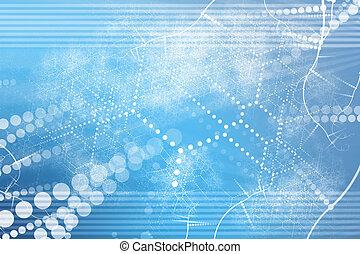 résumé, industriel, technologie, réseau