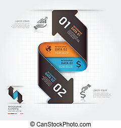résumé, infographic, business, flèche