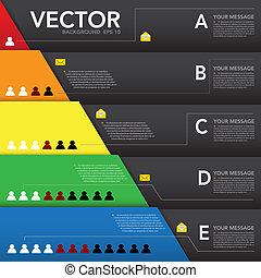 résumé, infographic, conception, arrière-plan., élément