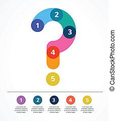 résumé, infographic, question, fond, marque