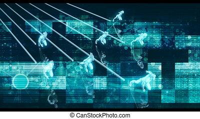 résumé, information, transfert, données, technologie, fond, concept