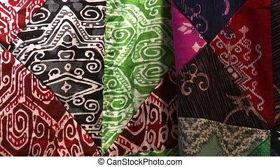 résumé, irrégulier, motifs, batik, malaisie