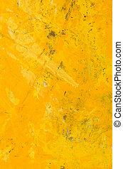 résumé, jaune, acrylique, fond