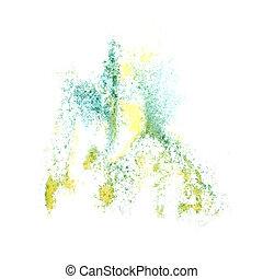 résumé, jaune, aquarelle, fond, pour, ton, conception, insu