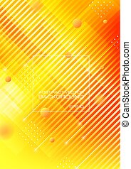 résumé, jaune, formes, fond, orange, géométrique